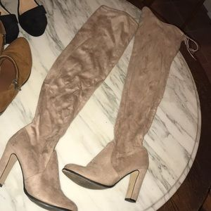 Shoes - Adorable nude over the knee boots